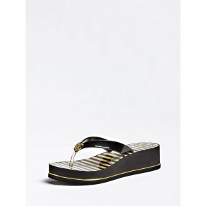 Guess Tongs ENZY Noir - Taille 36,37,38,39,40,41,35