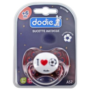 Dodie Sucette silicone anatomique  I love foot +6 mois