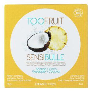 Toofruit Pain dermatologique surgras Sensibulle - Coco et Ananas