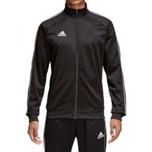 Adidas Core 18 Polyester Jacket Veste de Survêtement Homme, Noir/Blanc, FR : L (Taille Fabricant : L)