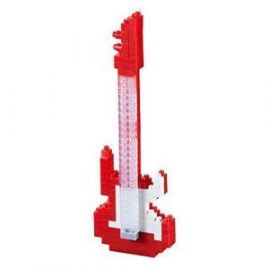 Brixies 410120 - Guitare électrique Rouge 3D-Motif