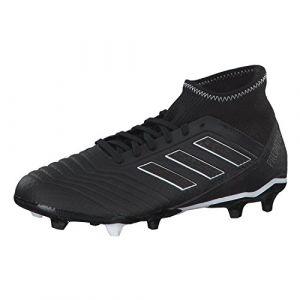 Adidas Predator 18.3 FG, Chaussures de Football Homme, Noir (Negbás/Ftwbla 000), 45 1/3 EU