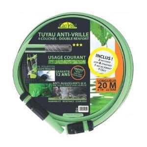 Cap Vert Tuyau anti-vrille tricoté 4 couches renforcé TC+ équipé Longueur 20 m Diamètre 19 mm