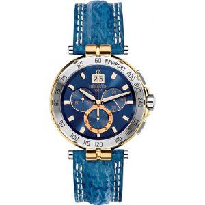 Michel Herbelin Montre Homme - 36656/T35 - NEWPORT - Chronographe - Date - Bracelet Cuir Bleu
