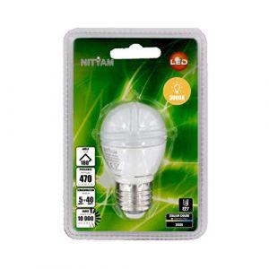 Nityam Ampoule LED Sphérique E27 - 5W équivalent 40W - 470lm 3000K 180°