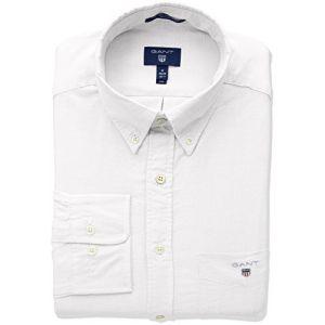 Gant (marque) Chemise droite en coton oxford Blanc