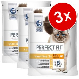 Perfect fit Sensitive 1+ riche en dinde pour chat 1,4 kg