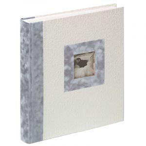 Walther Lombardia 28x30,5 50 S. Hochzeit Buch FA106 ( Type:album livre Sujet:mariage / amour Format (cm):28 x 31 Nombre de pages:50 Couleur des pages:blanc Texte en allemand:2 pages Couleur:blanc / gris Nombre:1)