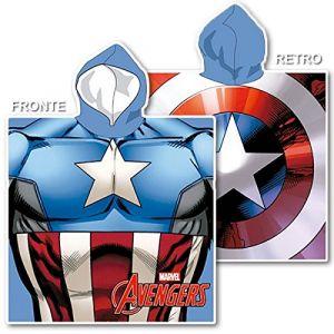 Poncho microfibre Captain America (55 x 110 cm)