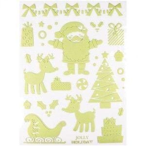 Stickers phosphorescents Père Noël