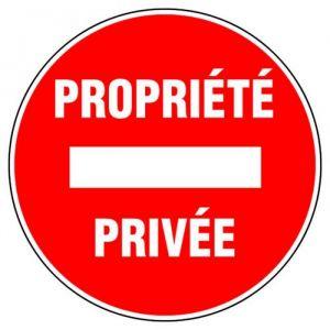 Novap Disque d'interdiction - 'propriété privée'