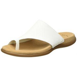 Gabor Lanzarote, Sandales Plateforme Femme, Blanc (Blanc Leather), 44