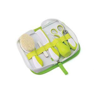 Nuvita 1136 - Trousse de Soin Pour Bébé – Set de Toilette et d'Hygiène Avec 6 Accessoires Inclus – Kit de Premiers Soins Nouveau-Né - Cheveux et Ongles – Mouche Bébé – Sans Nickel - Marque EU
