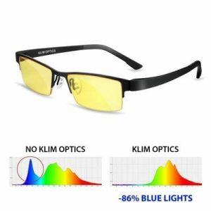 Klim Optics Lunettes Filtre Lumière Bleu Gaming PC Mobile TV