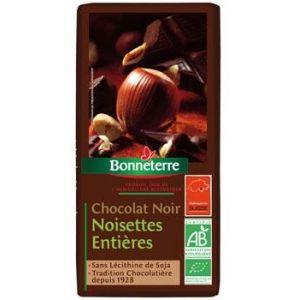 Bonneterre Chocolat Noir Noisettes Entières 100gr