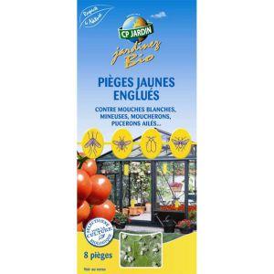 Cp jardin Pièges à insectes jaunes englués (Lot de 8)