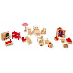Legler 7219 - Meubles de poupée avec salon de jardin