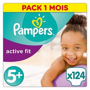 Pampers Active Fit taille 5+ (13-25 kg) - 124 couches