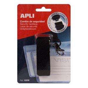 APLI 15238 - Lacet de sécurité pour badge, coloris noir