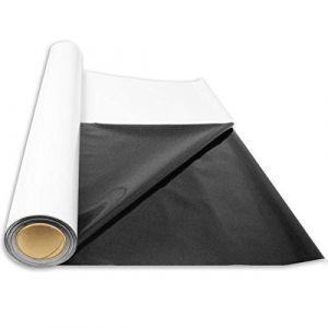 Superplant Bâche Noire/Blanche Rouleau 2x30m, papier réfléchissant