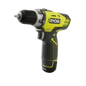 Ryobi RCD12012LA17 - Perceuse visseuse compacte sans fil 12V + Coffret 17 accessoires + 2 Batteries