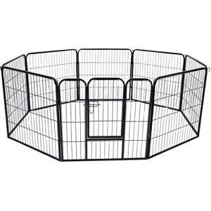 Homcom Luxe - Enclos pour chiens 8 panneaux 80 x 80 cm