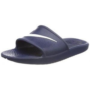 Nike Kawa Shower, Chaussures de Plage et Piscine Homme, Bleu (Midnight Navy/White), 40 EU