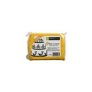 Patisdécor Pâte à sucre jaune goût vanille (250g)
