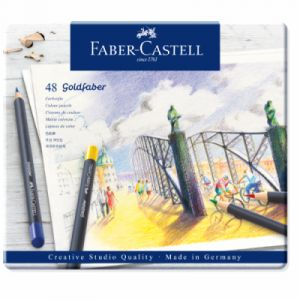 Faber-Castell Boîte de 48 crayons de couleur Goldfaber