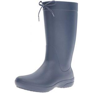 Crocs Freesail Rain Boot Women, Femme Bottes, Bleu (Navy), 34-35 EU