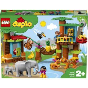 Lego - L'île Tropicale Duplo Ma Ville Jeux de Construction, 10906, Multicolore