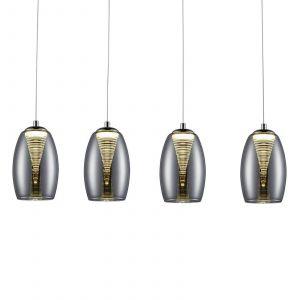 Brilliant AG Suspension LED LED intégrée Metropolis G60772/93 20 W blanc chaud chrome, fumé