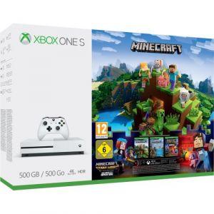 Microsoft Xbox One S 500 Go Minecraft + 3 Mois D'abonnement Au Xbox Live Gold