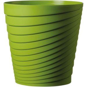 Deroma Pot Slinky - 25x25x25 cm - 8,7L - Vert - Plastique injecté - Résistant au gel - Résistant aux UV - Recyclable - Bouchon préformé