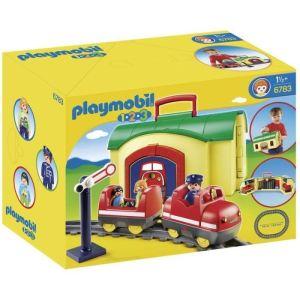 Playmobil 6783 - 1.2.3 : Train avec gare transportable