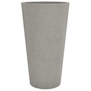 Scheurich Pot en plastique rotomoulé Coneo High 243 - 39 x 70 cm - Taupe granite - Plastique rotomoulé 27 L