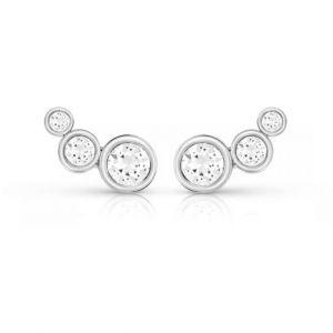 Guess Boucles d'oreilles UBE84124 - Boucles d'oreilles Cristaux Métal Argent Femme