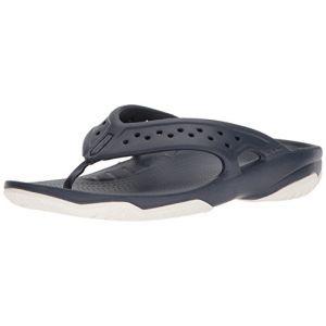 Crocs Swiftwater Deck Flip Men, Tongs Homme,Bleu (Navy/White),43-44 EU