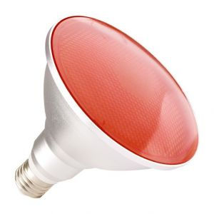 Ledkia France Ampoule LED E27 PAR38 15W Waterproof IP65 Lumière Rouge Rouge