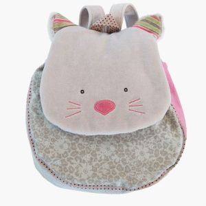 Moulin roty Sac a dos chat gris les pachats 660071