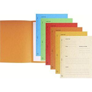 Exacompta 220118E - Paquet de 25 dossiers de plaidoirie Pour/Contre, en carte 265 g/m², coloris assortis