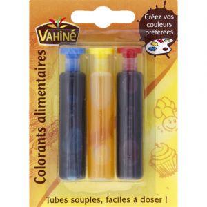 Vahiné Colorant alimentaire 3 tubes de 6 ml