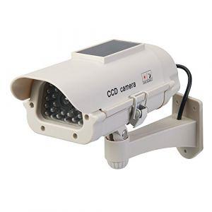 Silverline Caméra de surveillance factice solaire avec LED