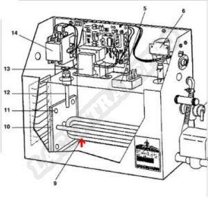 Procopi 1884001 - Résistance 9 kW pour générateur de vapeur MR Steam MS400 triphasé