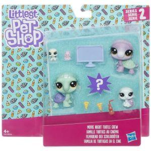 Hasbro Littlest Petshop - Famille tortues au cinéma