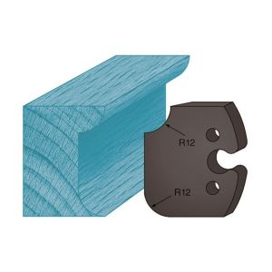 Diamwood Platinum Jeu de 2 contre-fers profilés Ht. 48 x 5,3 mm congé et quart de rond A206 pour porte-outils de toupie
