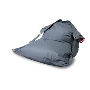 Fatboy Pouf Buggle-up Outdoor / Avec sangles ajustables L 190 x Larg 140 cm bleu acier en tissu