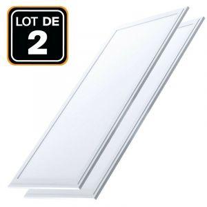Wirquin Dalle LED 1200x300 40W lot de 2 pcs Blanc Neutre 4000k Haute Luminosité - Plusieurs modèles disponibles