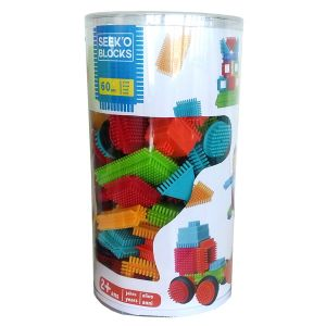 Seek'O Blocks 60 pièces tube - Jeu de construction 1er âge