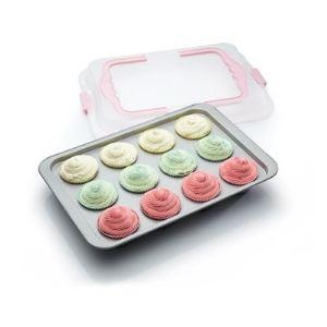 Kitchen craft Moule 12 cupcakes Transport avec couvercle